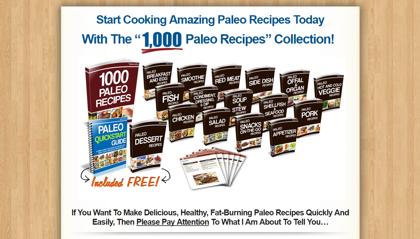 1000 Paleo Recipes Bundle Download